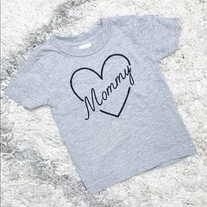 Other - Gray I Love Mommy Shirt Mother's Day Outfit 12-18m